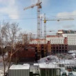 Stock Video: Time lapse building in winter