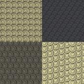 Zestaw czterech abstrakcyjny wzór wełny brązowe loki — Wektor stockowy