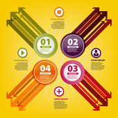 Four colored arrows in infographic style — Vecteur