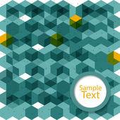 абстрактный фон зеленый кубов с пространством для текста — Cтоковый вектор