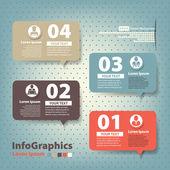 Ensemble d'éléments pour l'infographie dans les ballons de discours de forme — Vecteur