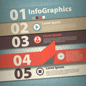 Infographic template in vintage style — Stock Vector