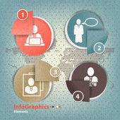 Ensemble d'éléments pour l'infographie dans les éléments de formulaire papier — Vecteur