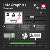Set of elements for infographics in UI style with knobs — Stock Vector