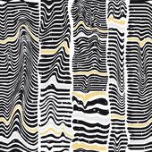 Seamless pattern of black stripes similar to a zebra — Stock Vector