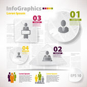 Modern vector elements for infographics with scraps newspaper — Stock Vector