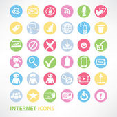 Media and communication Internet icons set in a minimalist style — Stock Vector