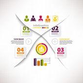 Infográfico moderno modelo para projeto de negócios com a divisão e — Vetor de Stock