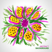 Abstract background of a bouquet of flowers in watercolor style — Stock Vector