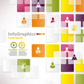 Modern infographic template for business design with background — Stock Vector