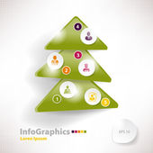 Modern infographic template for business design with christmas t — Stock Vector