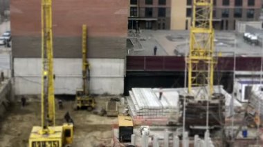 Day at a construction site — Video Stock