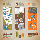 Template for infographic with graphics of the business process i — Stock Vector