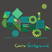 Абстрактный фон геометрических фигур похож на зеленый автомобиль — Cтоковый вектор