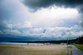 Beach before the storm — Stock Photo
