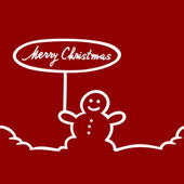 Christmas card with snowman — Stockvektor
