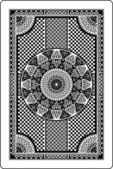 Playing card back side — Stockvektor