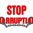 Stop corruption — Stock Vector