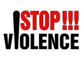 Stop violence — Stock Vector