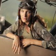 Aviator female — Stock Photo