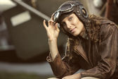 Woman aviator — Stock Photo