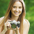 Vintage photographer — Stock Photo