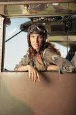Aviator female — Стоковое фото