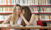Teenage Student Gossip — Stock Photo
