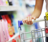 Supermarket Shopper — Stock Photo