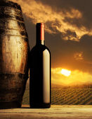 Red wine bottle — Stock Photo