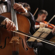 Stock Photo: Classical music, cellist and violinists
