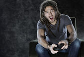 Video gaming — Stockfoto