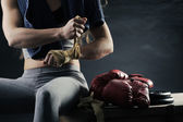 女子拳击手 — 图库照片