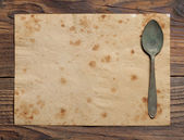 Old Paper Place Setting, old style — Stockfoto