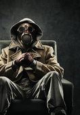 Hombre con máscara de gas — Foto de Stock