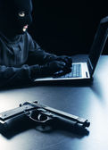 Hacker stealing data — Stock Photo