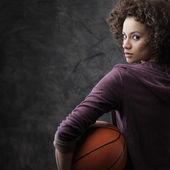 Female basketball player — Stock Photo