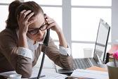 Secretario está teniendo un mal día — Foto de Stock