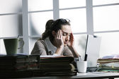 Secretary is having a bad day — Stock Photo
