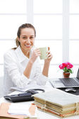 Coffee break in office — Stock Photo