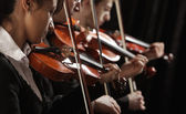 Violinists at concert — Stock Photo