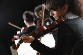 Violinist woman — Stock Photo
