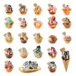 Ice cream collection — Stock Photo
