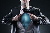 Superhrdina podnikatel — Stock fotografie