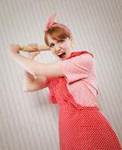 Retro housewife — Stock Photo