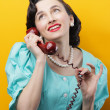 Vintage calling woman — Stock Photo #23993171