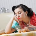 Bored Housewife — Stock Photo