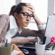 Secretary is having a bad day - Stock Photo