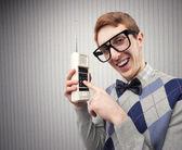 Studente nerd — Foto Stock