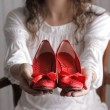 Women shoes red — Stock Photo